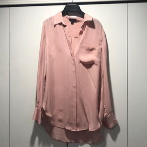 Beautiful pink silk button down - J Crew size 2